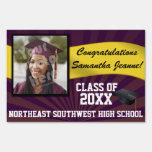 Purple/Gold Custom Photo Graduation Yard Sign