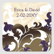 purple gold envelope seal
