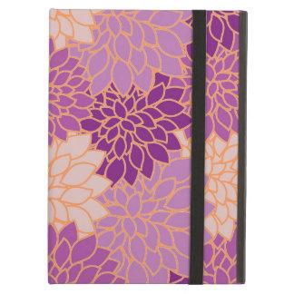 Purple Gold Floral pattern iPad Air Case