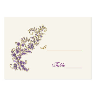 Purple gold floral Table Place card