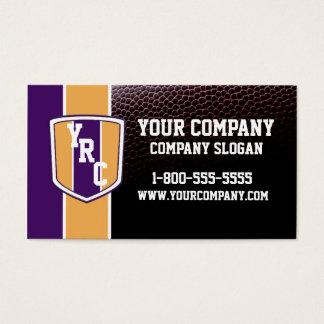 Purple & Gold Football Card