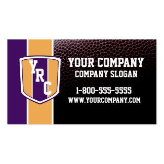 Purple & Gold Football Card Double-Sided Standard Business Cards (Pack Of 100)