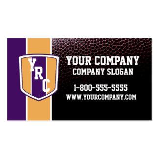 Purple & Gold Football Card Business Card Template