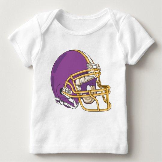 Purple Gold Football Helmet Baby T-Shirt