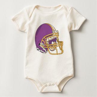 Purple Gold Football Helmet Creeper
