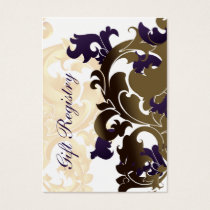 purple gold Gift registry  Cards
