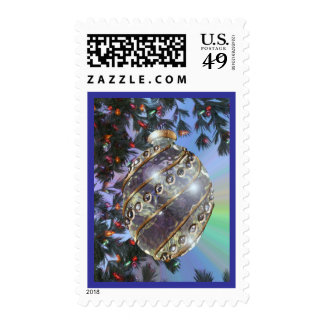 Purple Gold Glass Bulb Stamp