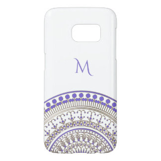 Purple Gold Half Mandala on Any Color Samsung Galaxy S7 Case