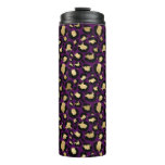 Purple & Gold Leopard Thermal Tumbler