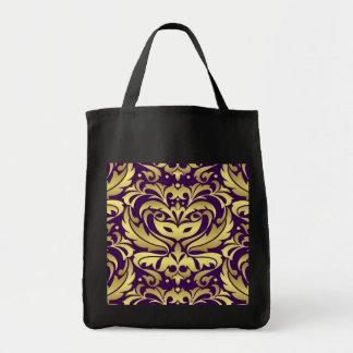 Purple & Gold Masquerade Mask Treat Halloween Bag