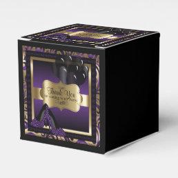 Purple & Gold Metallic - Birthday  | DIY Text Favor Box