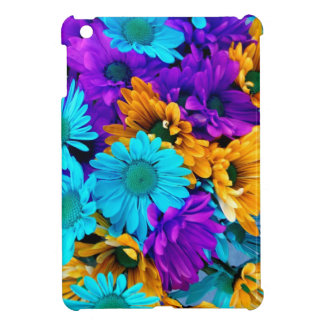Purple Gold N Turquoise Daisies Case For The iPad Mini