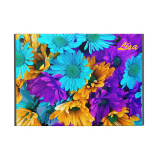 Purple, Gold N Turquoise Daisies iPad Mini Case