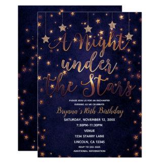 Purple & Gold Night Under the Stars Celestial Sky Card