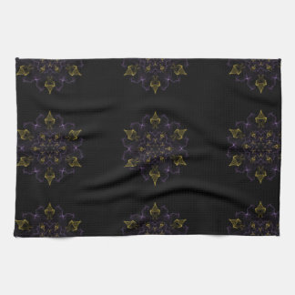 Purple & Gold Passion Flames of Silk Towel