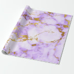 """Purple Gold Pastel White Marble Shiny Glam Wrapping Paper<br><div class=""""desc"""">Minimalism and elegance according to acctual interior decor trends.   For Many Occasions</div>"""