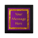 Purple & Gold Personalized Box Keepsake Box