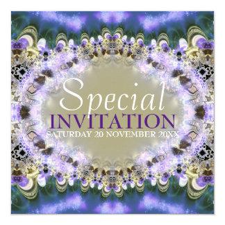 Purple Gold Royal Princess Birthday Invitation