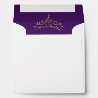 Purple Gold Tiara Envelope