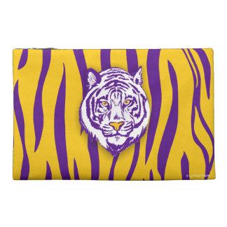 Purple Gold Tiger Stripe w Tiger Face Travel Accessory Bags