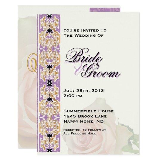 Purple & Gold Wedding Invite - 5