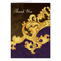 purple gold wedding ThankYou Cards