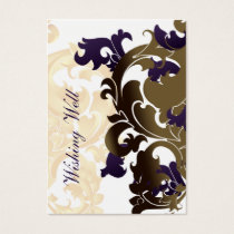 purple gold wishing well cards