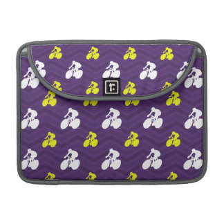 Purple, Gold Yellow White, Cycling Cyclist Chevron Sleeve For MacBooks