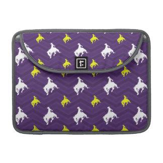 Purple, Gold Yellow, White, Rodeo Cowboy Chevron Sleeve For MacBooks