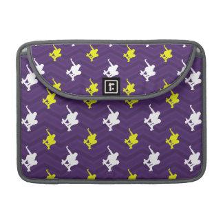 Purple, Gold Yellow, White, Skateboarding Chevron MacBook Pro Sleeve