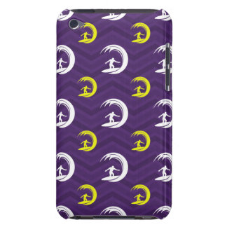 Purple, Gold Yellow, White, Surfing Chevron Barely There iPod Cover