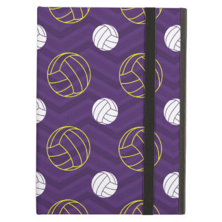 Purple, Gold Yellow, White, Volleyball Chevron iPad Air Cases