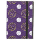 Purple, Gold Yellow, White, Volleyball Chevron iPad Air Case