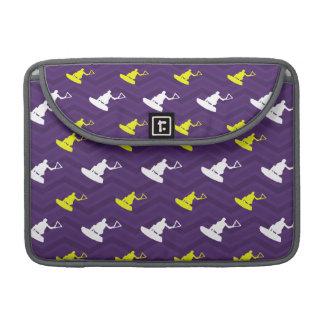 Purple, Gold Yellow, White, Wakeboarding Chevron Sleeve For MacBooks