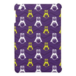 Purple Golden Yellow White Bowling Chevron Case For The iPad Mini