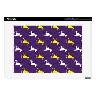 Purple, Golden Yellow, White, Cheerleader Chevron Laptop Decals