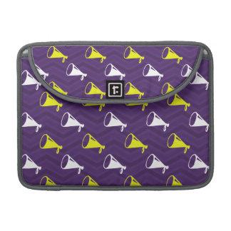 Purple, Golden Yellow, White, Cheerleader Chevron Sleeve For MacBook Pro