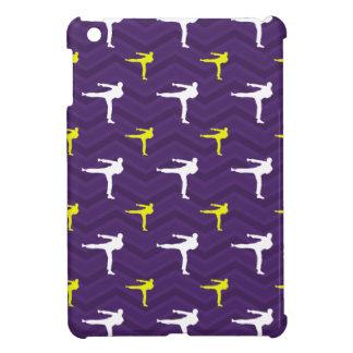 Purple Golden Yellow White Karate Chevron iPad Mini Cover