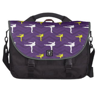 Purple, Golden Yellow, White, Karate Chevron Commuter Bags