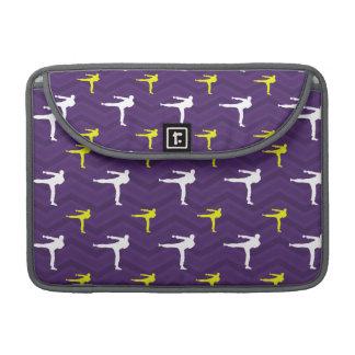 Purple, Golden Yellow, White, Karate Chevron MacBook Pro Sleeve