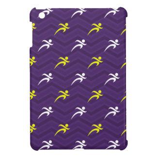 Purple Golden Yellow White Running Chevron iPad Mini Covers