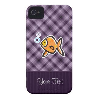 Purple Goldfish iPhone 4 Cases