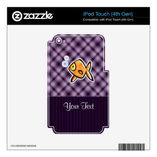 Purple Goldfish Decal For iPod Touch 4G