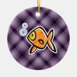 Purple Goldfish Ornament