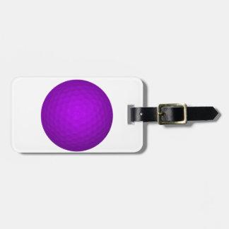 Purple Golf Ball Bag Tag