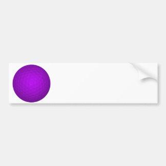 Purple Golf Ball Bumper Sticker