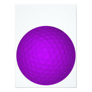 Purple Golf Ball Card