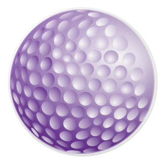 Purple Golf Ball Ceramic Knob