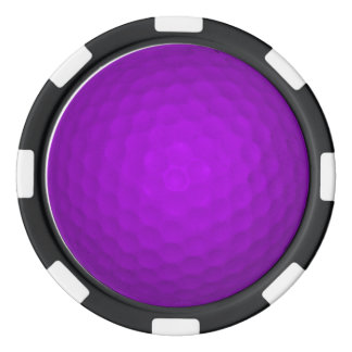 Purple Golf Ball Poker Chips