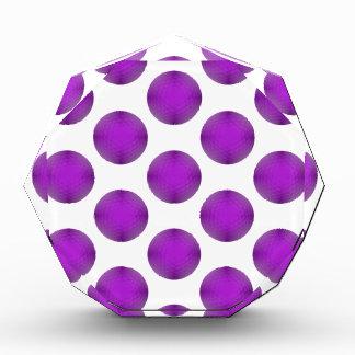 Purple Golf Ball Polka Dot Pattern Award